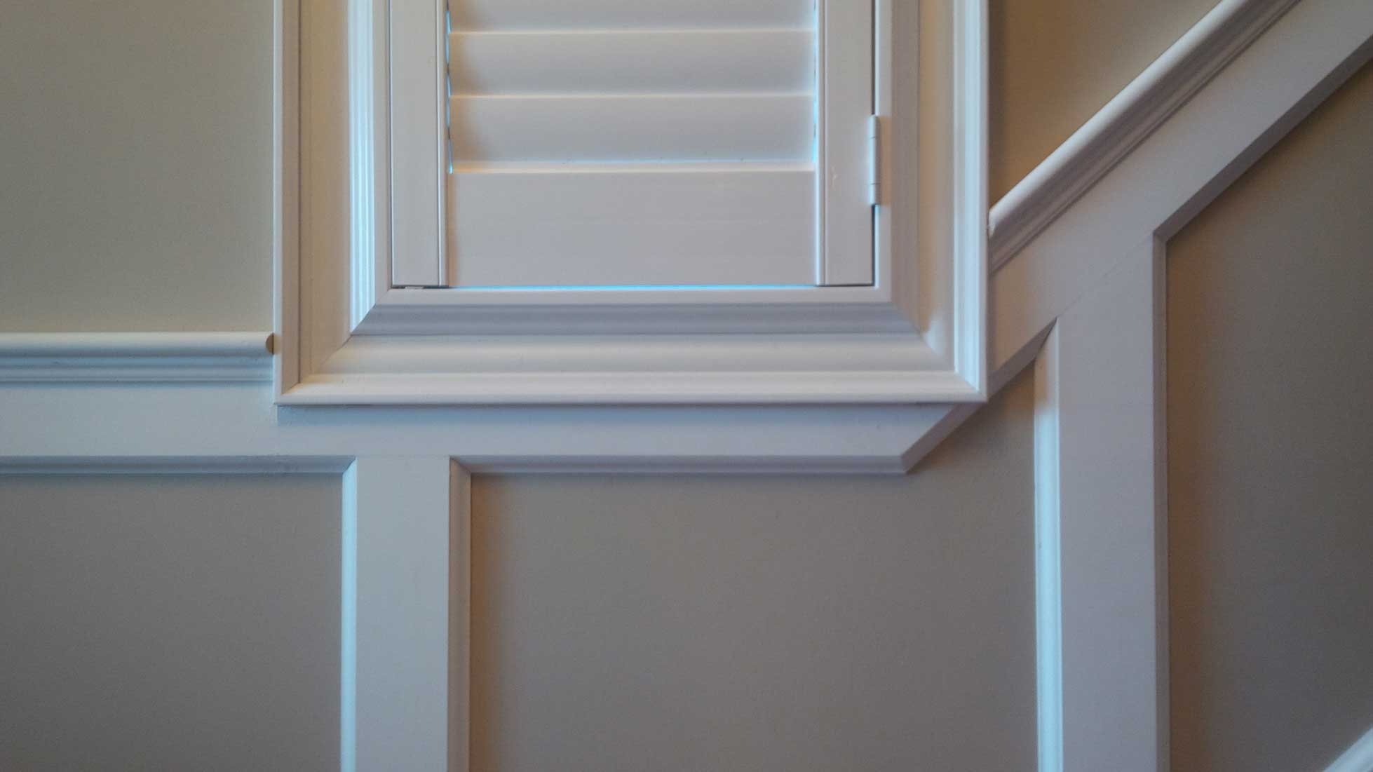Wainscoting raised